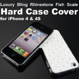 Luxury Bling Rhinestone Fish Hard iPhone 4 4S Case Cover + Free Screen Protector