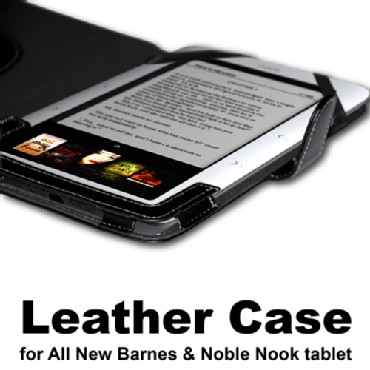 Nook Leather case cover for Nook Color & Noble Nook tablet