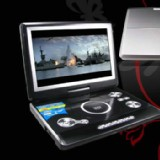 12.5  inch Portable DVD Player, Game+USB+DIVX+SD, Swivel&Flip