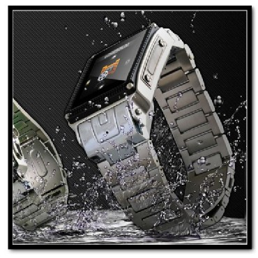 Waterproof Watch Mobile Cell Phone Camera Bluetooth 2GB