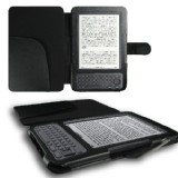 Kindle 1 Case Black Leather Case Cover