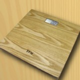 Digital Bathroom Body Scale Wood Platform LCD Screen