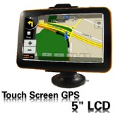 5 inch Car GPS Navigator Touch Screen Built in 2GB New Map