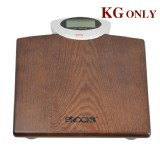Digital Bathroom Body Scale Classic Wood Platform Weight Max 180KG