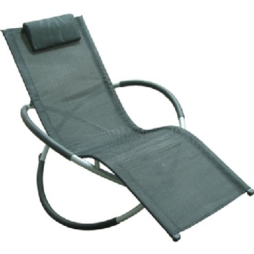 Foldable Folding Steel Rocking Chair - Prevents Floor Scratching