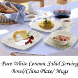 Set of Ceramic Bowl For The Dinner Microwave Safe Bowl/Plate/ Mugs