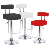 2 Barstool Faux Leather Pu Swivel Kitchen Pub Adjustable Barstool