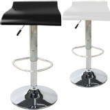 NEW Set of Two(2) Modern Wood Bombo Kitchen BarStool Swivel Height Dark Walnut