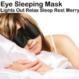 New Polyester Sleeping Eye Mask Travel Rest Sleep Blindfold Relax USPS Shipping