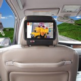 Car Headrest Mount Holder for Samsung Galaxy Tab 2 7.0 P3100 Black Strap
