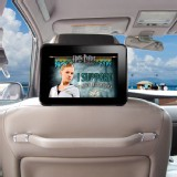 TFY Car Headrest Mount Black Strap for Samsung Galaxy Tab 7.7 P6800