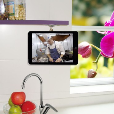 Adjustable Kitchen Shelf or Cabinet Mount for iPad & New iPad
