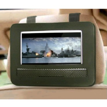 Car headrest mount for 9 inch normal portable DVD player