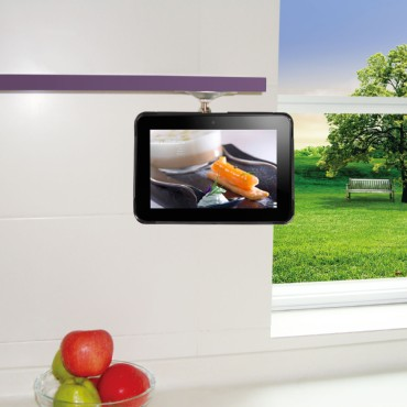 TFY Adjustable Kitchen Shelf Cabinet Mount for Amazon Kindle Fire HD 7