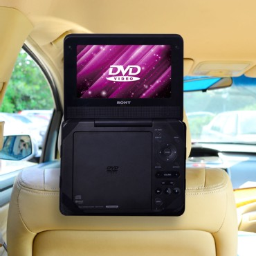 TFY Car Headrest Mount for 9 inch Non Swivel Portable DVD Players