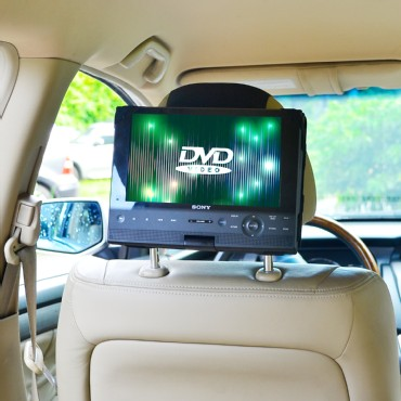 TFY Car Headrest Mount for 10 inch Swivel & Flip Style Portable DVD Player