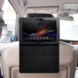 TFY Car Headrest Mount with PU Leather Stand Case for Sony Xperia Tablet Z