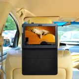 TFY Car Headrest Mount with PU Leather Stand Case for Galaxy Note 10.1 N8000