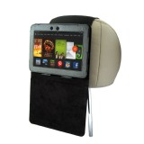TFY Car Headrest Mount with PU Leather-textured Stand Case for Kindle Fire HDX 7