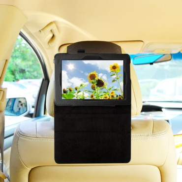 TFY Car Headrest Mount with PU Leather-textured Stand Case for Kindle Fire HD 7 (2nd Gen)2013