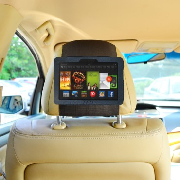 TFY PU Leather Car Headrest Mount for 2nd Gen Kindle Fire HD 7 2013