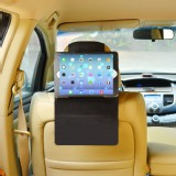 TFY Car Headrest Mount with PU Leather-textured Stand Case for iPad Air / iPad 5