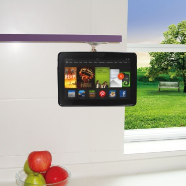 TFY Adjustable Kitchen Shelf Cabinet Mount for Amazon Kindle Fire HDX 7