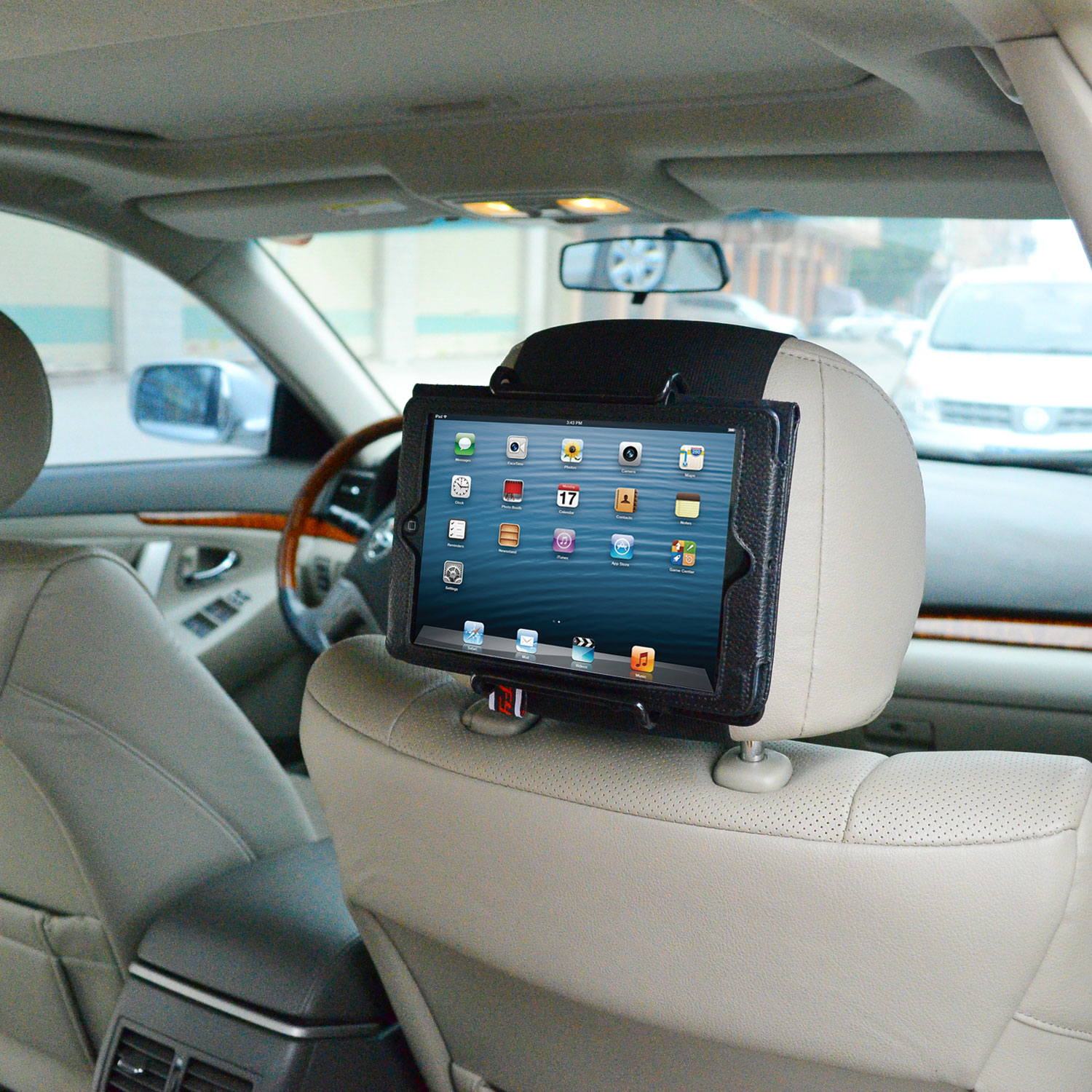 TFY Universal Car Headrest Mount Holder for IPAD, Samsung and other