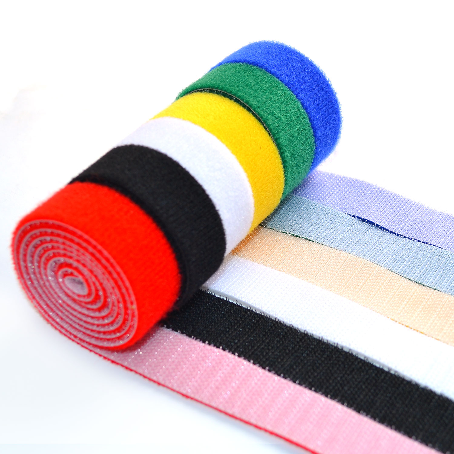 71bf81c72df8 6 PCS of Cable-Tidy Velcro Fastening Tape Blue Red Black Green Yellow White