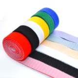 6 PCS of Cable-Tidy Velcro Fastening Tape Blue Red Black Green Yellow White