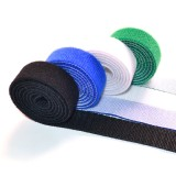 4 PCS of Cable-Tidy Velcro Fastening Tape Blue White Black Green
