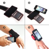 TFY Open-Face Sport Armband + Detachable Case for iPhone 5/5S - iPhone SE