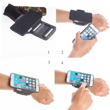TFY Open-Face Sport Armband + Detachable Case for iPhone 6