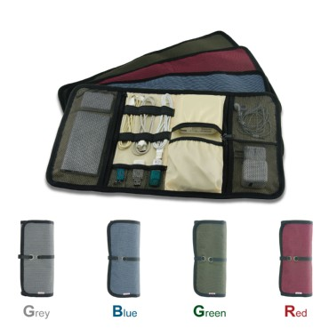 TFY Portable Universal Wrap iPhone & iPad Accessories Bag / Cable Organizer Bag / Hard Drive Case