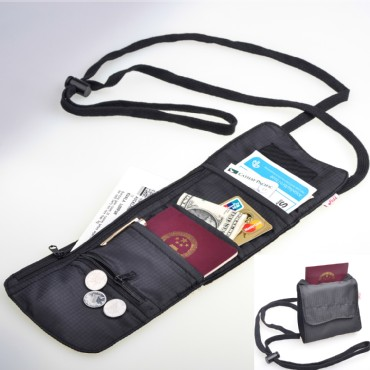 TFY Traveler′s Passport, Card and Ticket Voucher Neck Bag