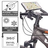 TFY Universal and Detachable Bicycle Handlebar Mount for Smartphone,GPS Navigators - iPhone