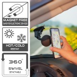 TFY Universal and Detachable Car Windscreen Mount for Smartphones, GPS Navigators - iPhone