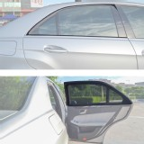 TFY Universal Sunshades for Car Rear Door Windows - Single Layer - 2 Pieces