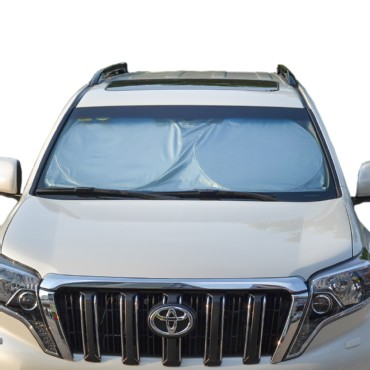 TFY Universal Car Windshield Sunshade Sun Visor Easy Foldable Vehicle Blinds