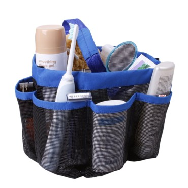 TFY Mesh Shower Caddy Storage & Organizer with 7 Large Side Pockets