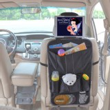 TFY Car Backseat Organizer - Multi-Pocket Storage with Headrest Mount for Tablet PCs