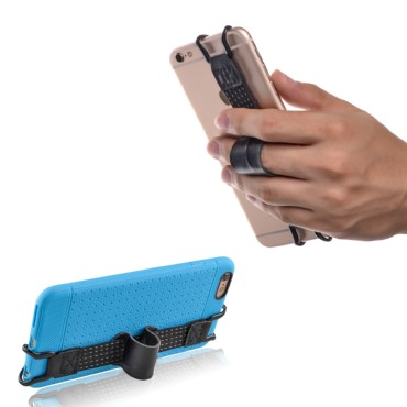 TFY Security HandStrap with Belt Holder Stand for iPhone X / 8 / 7 / 6 Plus and Other Smartphones
