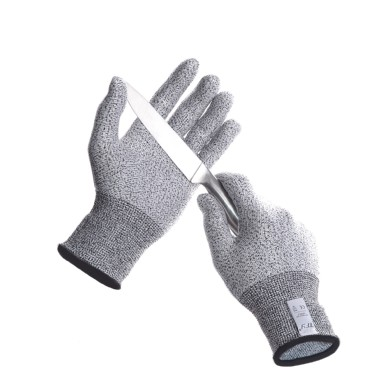 TFY Anti Abrasion Cut Resistant Safety Kitchen Gloves for Hand Protection - 1 Pair