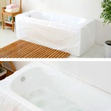 TFY Ultra Large Disposable Film Bathtub Bag Household and Hotel Bath Tubs - 5 Pieces