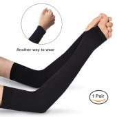 TFY Unisex Cooling & UV Protection Arm Sleeves for Cycling, Climbing, Sport and Outdoor Activities