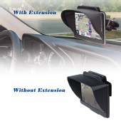 TFY GPS Navigation Sun Shade Visor Plus Flexible Visor Extension Piece for 5 / 7 Inch Portable GPS