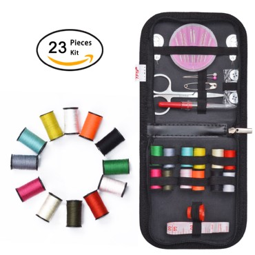 TFY Emergency Mini Sewing Kit with Repair Supplies in Carry Case for Home, Travel