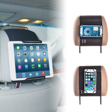 TFY Universal Car Headrest Mount Holder for Tablets and Mobile Phones and More