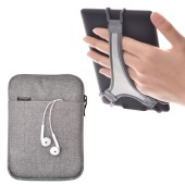 TFY E-reader Protective Pouch Bag with Zip Closure, plus Bonus Hand Strap Holder for 6 inch tablet