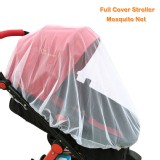 WANPOOL Universal Baby Stroller Full Cover Mosquito Net, White